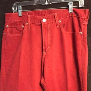 New with tab Levi's 514 34x34 red jeans
